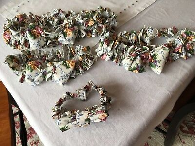 Longaberger Mother' Day Floral Garters, 1 XL, 1 LG, 1 Med, & 1 Small