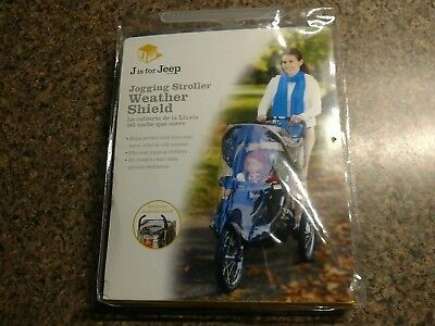 Jogging Stroller Weather Shield Baby Rain Cover J is for Jeep Universal Size
