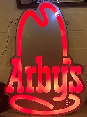 Arby's sign [MAN CAVE, BAR, NEON, LIGHT UP]