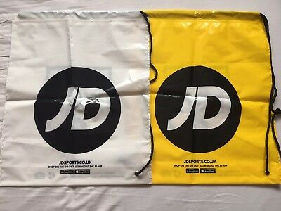 3414dd569e 2 X Brand NEW latest JD Sports Duffle Bags Drawstring - 1 White 1 Yellow