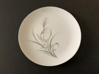 """Castle Court China Wheat Spray Gray Stems, Tan Leaves - 7-5/8"""" SALAD PLATE"""