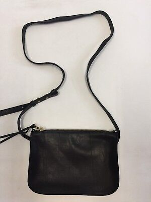 e9b07cc98196 NEW MADEWELL THE Simple Crossbody Bag True Black G0517 Monogrammed ...