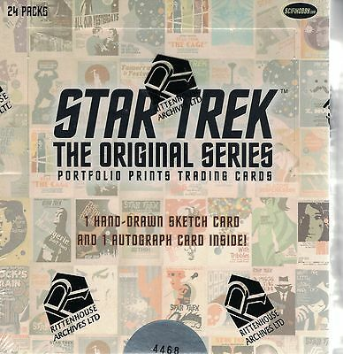 Star Trek TOS Portfolio  Trading Card Box