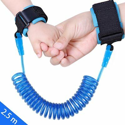 8FT 2.5M Anti Lost Wrist Link Traction Safety Harness Leash For Toddler Kids