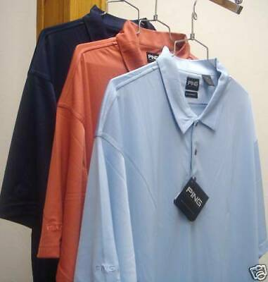 PING Golf - Men's Size LG, 3XL, 4XL, Dry Fiber, Drop Needle Polo Shirt, Dri fit