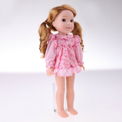 """MagiDeal Pink Dress Skirt for 14"""" American Girl Wellie Wishers Doll Outfit"""