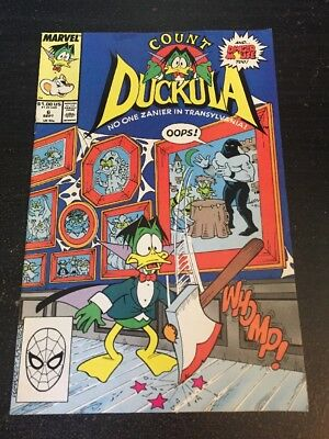 Count Duckula#6 Awesome Condition 8.0(1989) Kremer Art!!