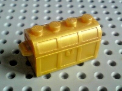 Lego Container Treasure Chest 2x4 Base and Lid [4738 & 4739] - Gold x1