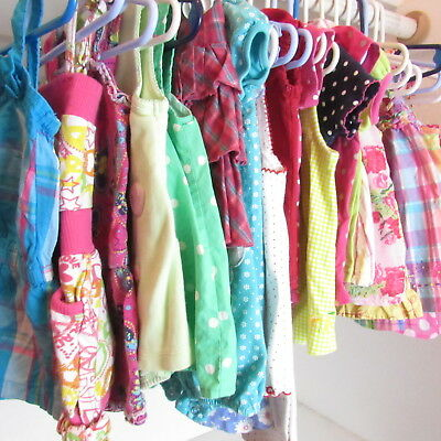 18 Piece Mixed Lot Baby Girl Clothes 6-12 Months Spring Summer Short Sleeve