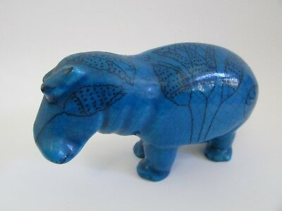 Metropolitan Museum William Turquoise Faience Egyptian Hippo Made in Italy