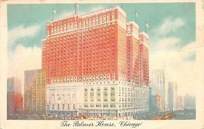 Postcard IL The Palmer House Hotel Chicago Posted 1945 Vintage Illinois PC