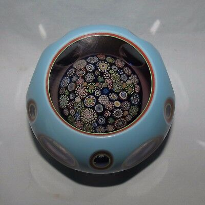 John Deacons Glass Scotland Multi Overlay And Closepack Paperweight