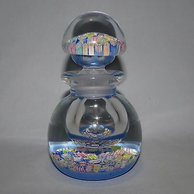 John Deacons Glass Scotland Perfume Bottle Millefiori Blue