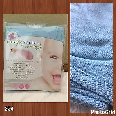 Miracle Blanket Swaddle Blue