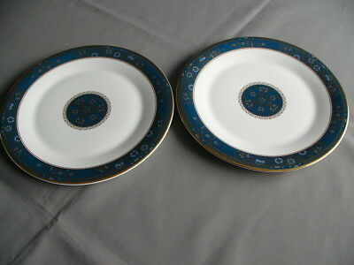 """2 x Royal Doulton Carlyle 10.5"""" Dinner Plates"""