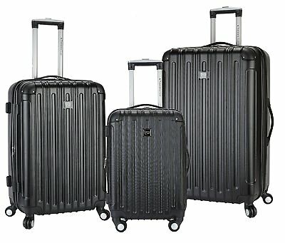 Travelers Club Luggage Madison 3-Piece Expandable Hardside Luggage Set, Black