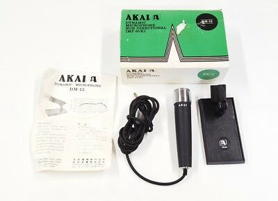 Akai DM-13 Dynamic MIcrophone & Stand / Non-Directional IMP 50K / Tested