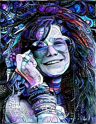 Janis Joplin Portrait Vinyl Sticker Decal Hippie Rock n Roll Grateful Dead Yeti