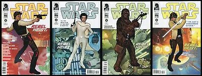 Star Wars Rebel Heist Comic Set 1-2-3-4 Han Solo Chewbacca Leia & Luke Skywalker