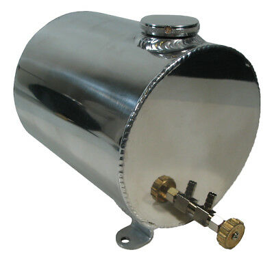 New Sws Karting 3 1/2 Quart Fuel Tank,floor Mount,racing,universal,kart,polished