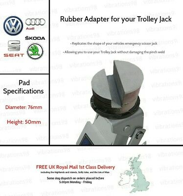 Rubber Adapter for your Trolley Jack - Suitable for VW, Skoda, Seat, Audi etc