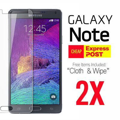 2X Tempered Glass Film Screen Protector for Samsung Galaxy Note 3 Note 4 Note 5