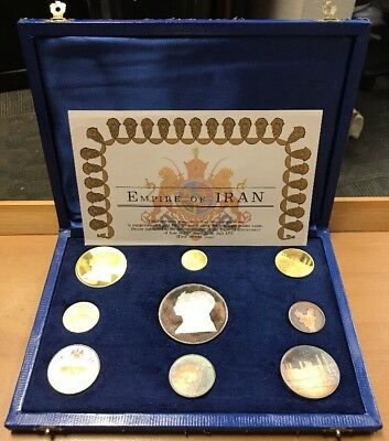 1971: 2500 Years Of Persian Monarchy Series Coins Silver & Gold Empire Of Iran