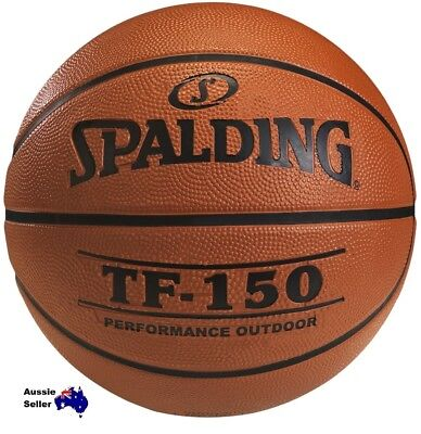 New! SPALDING TF-150 5157 PERFORMANCE  DURABLE RUBBER OUTDOOR SIZE 7 BASKETBALL