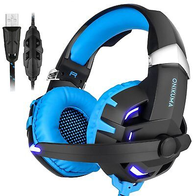 K2 Gaming Headset 7.1 Channel Stereo USB Headphone with Mic for PS4 PC Laptop