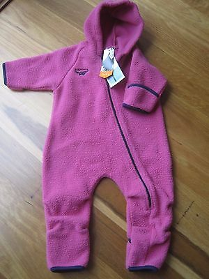 NEW Kathmandu Baby Girls Altima Polar Fleece Jumpsuit Size 1 - 12 Mths - Pink