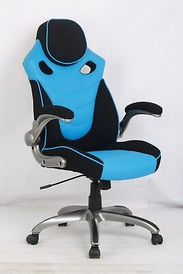 VinMax Racing Style Office Computer Chair High Back PU Leather Swivel Chair