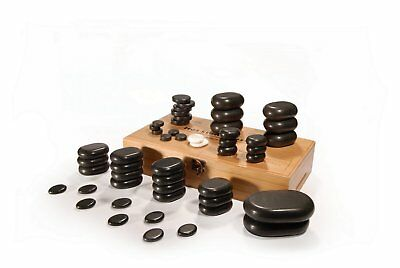 Master Massage Hot Stone Set Massagesteine Luxus 50 Stück Schwarz Lava Basalt