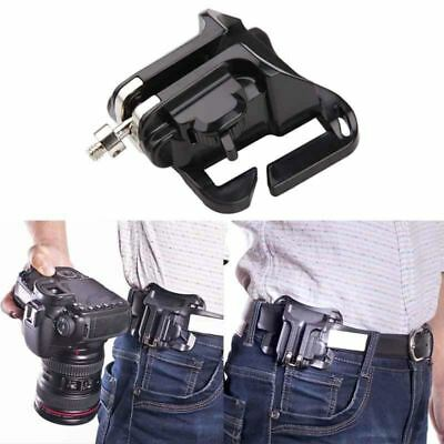 Fast Loading Holster Hanger Waist Belt Buckle Button Mount Clip for DSLR Camera