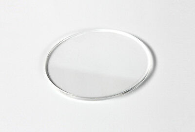 2 x Clear Acrylic Plastic disc circles – laser cut –120mm diameter, 4.5mm thick