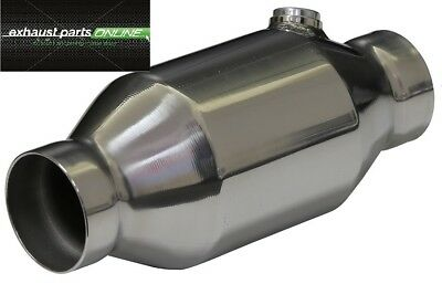 "Catalytic Converter 2 1/2"", 200 Cell, High Flow, Stainless Steel Round, Race Cat"