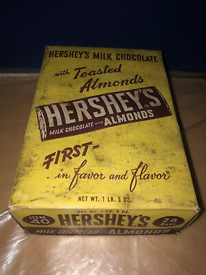 Antique Hershey With Almonds Candy Bar Box
