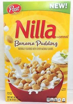 New 2018 Post Nilla Banana Pudding Cereal 19 Oz Free Worldwide Shipping
