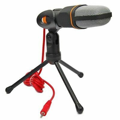 New Condenser Sound Podcast Studio Microphone + Stand For PC Laptop Skype MSN