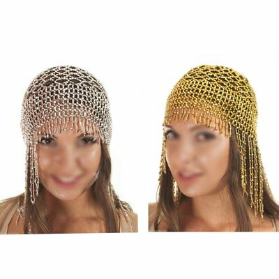 Cleopatra Beaded Belly Dance Headpiece Headwear Cap Hat Fancy Dress Costume Hot