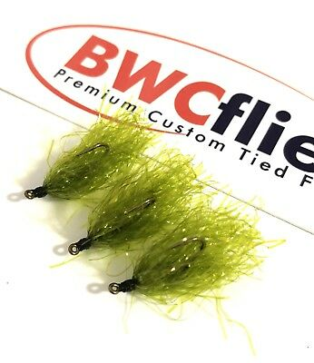 BWC Flies Weed fly 3 x Weighted Olive  for Blackfish and Luderick