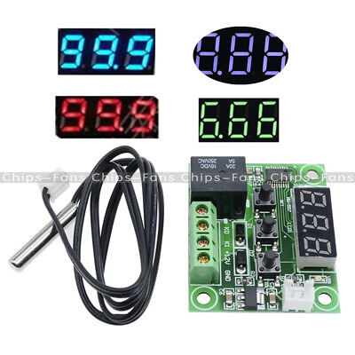 -50-110°C DC 12V W1209 LED Digital thermostat Temperature Control Switch Sensor