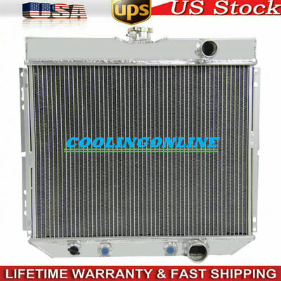 3 ROW Aluminum Radiator for Ford Fairlane L6 V8 1963-1969 1964 1965 1966 1967 68