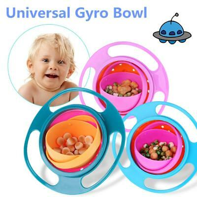 Cute 360 Degree Rotating Gyro Bowl Children's No Spill Bowl Balance Baby Bowl