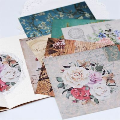 8pcs/Set Stickers Background Paper Handmade Scrapbooking Pad Kit DIY Notes New