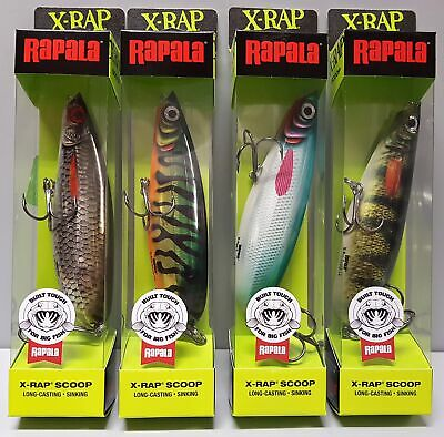 Rapala X-Rap Scoop Sinking 14cm 68g Hot Tiger Pike Live Perch Roach Whitefish