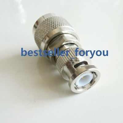 1X BNC-N adapter N male Jack to BNC Plug male straight adapter connector