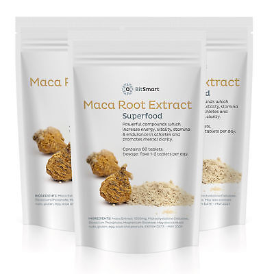 1000mg MACA Root Extract Pills High Grade SUPERFOOD Tablets -  Balances Hormones