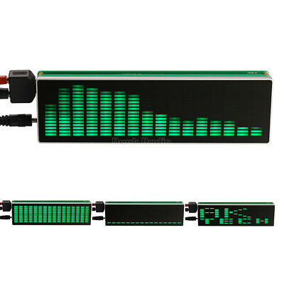 16×16 LED Audio Spectrum Level Indicator VU Meters Music Display for Amplifiers