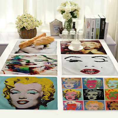 character Avatar Insulation Cotton Linen Placemat Dining Table Mat Home Kitchen