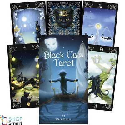 Black Cats Tarot Deck Cards Esoteric Fortune Telling Lo Scarabeo New